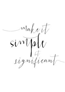 make it simple