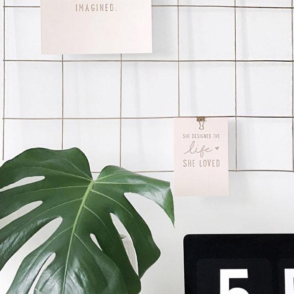 DIY: grid mood board