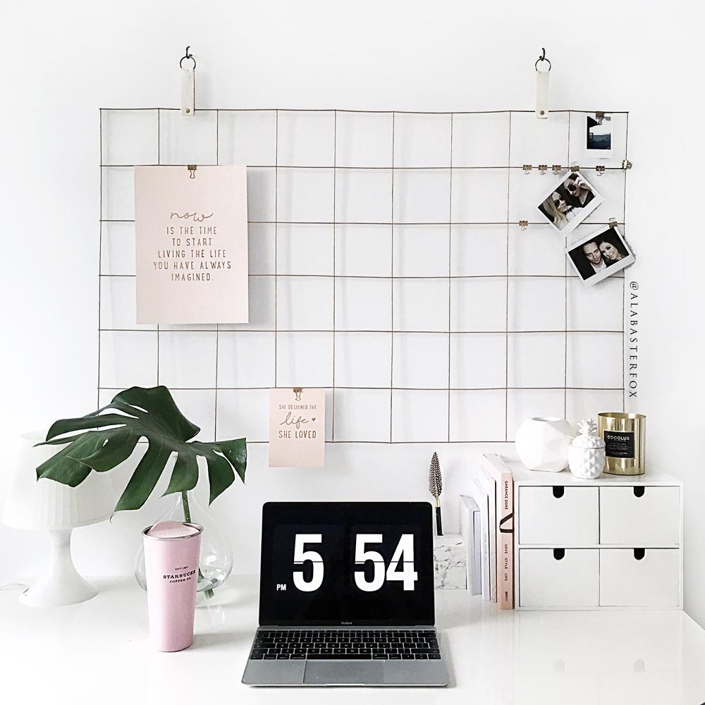 Diy grid mood board for Pinterest minimalist home