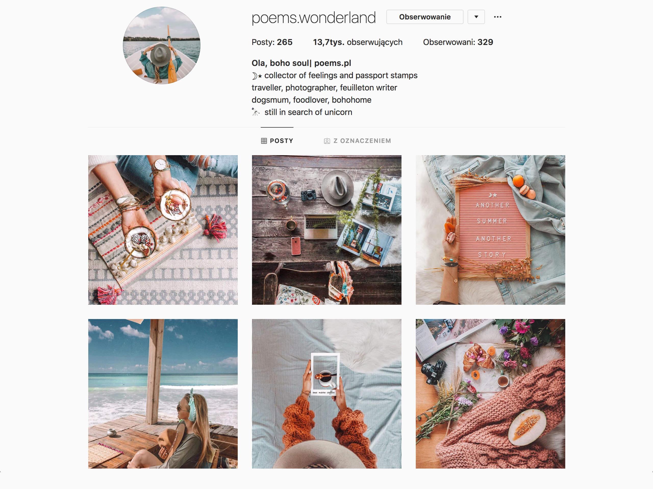 inspirujące profile na instagramie