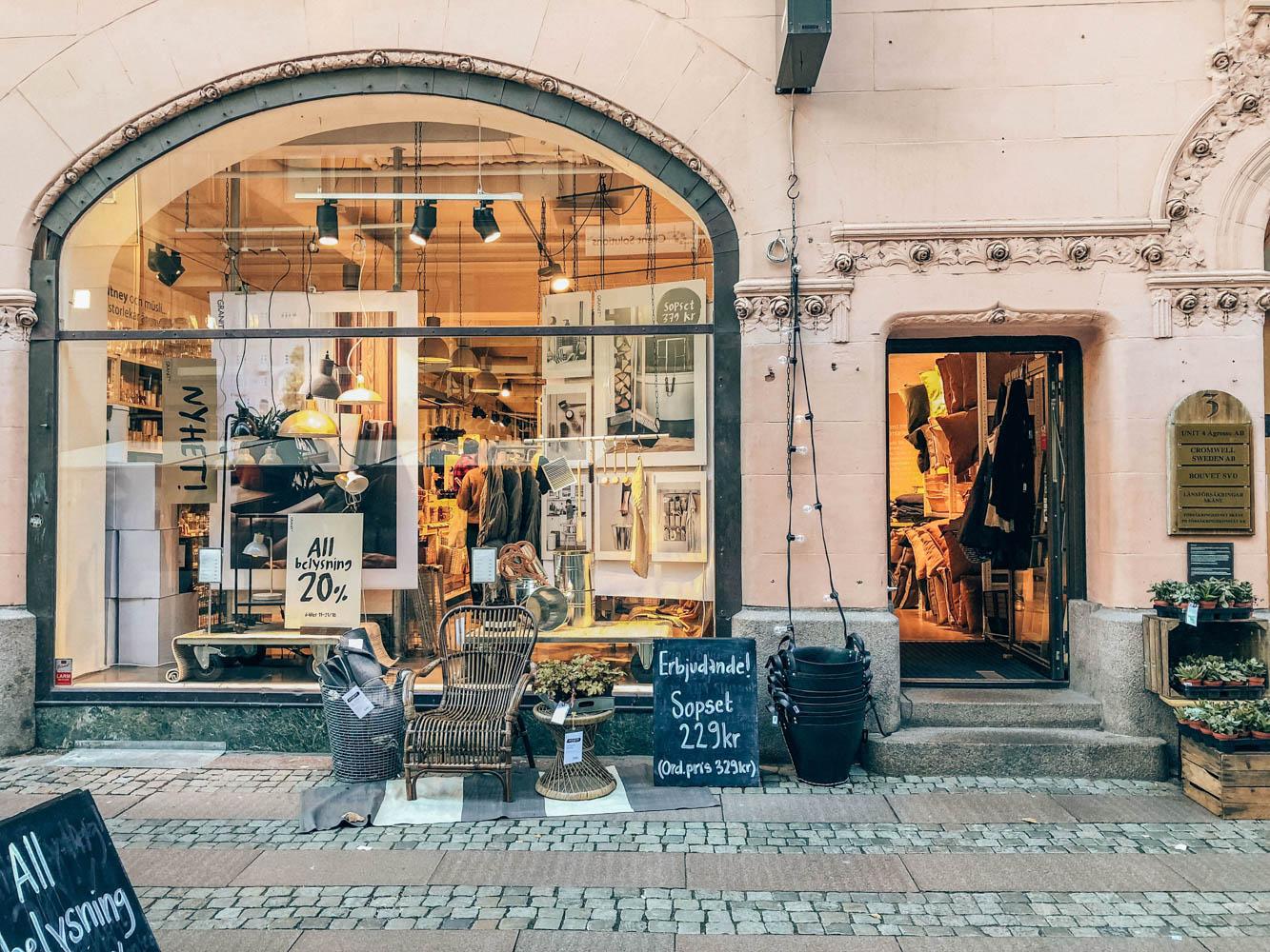Design shopping Malmo