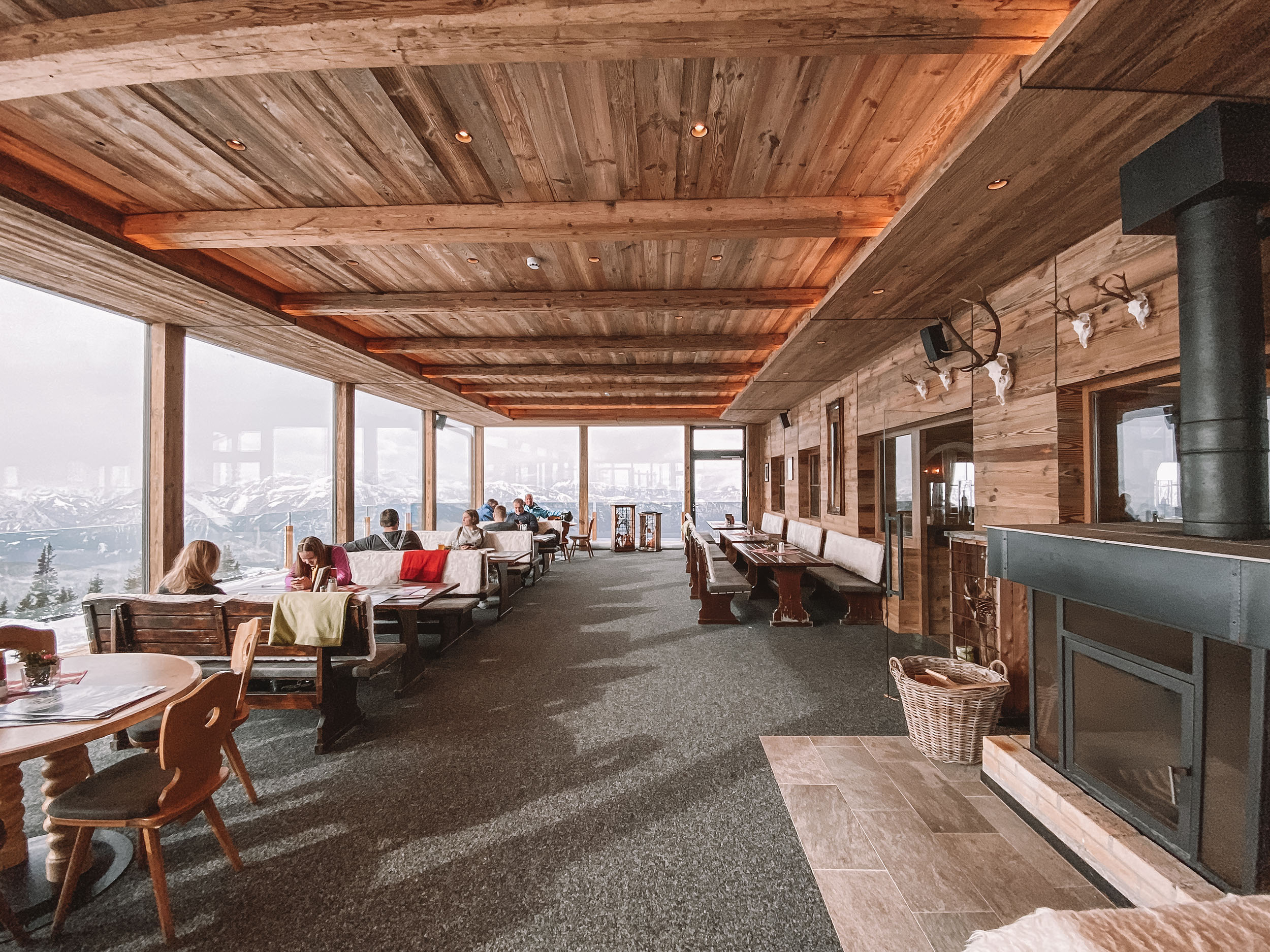 Restauracja Gasthof Hornboden w Ski Juwel