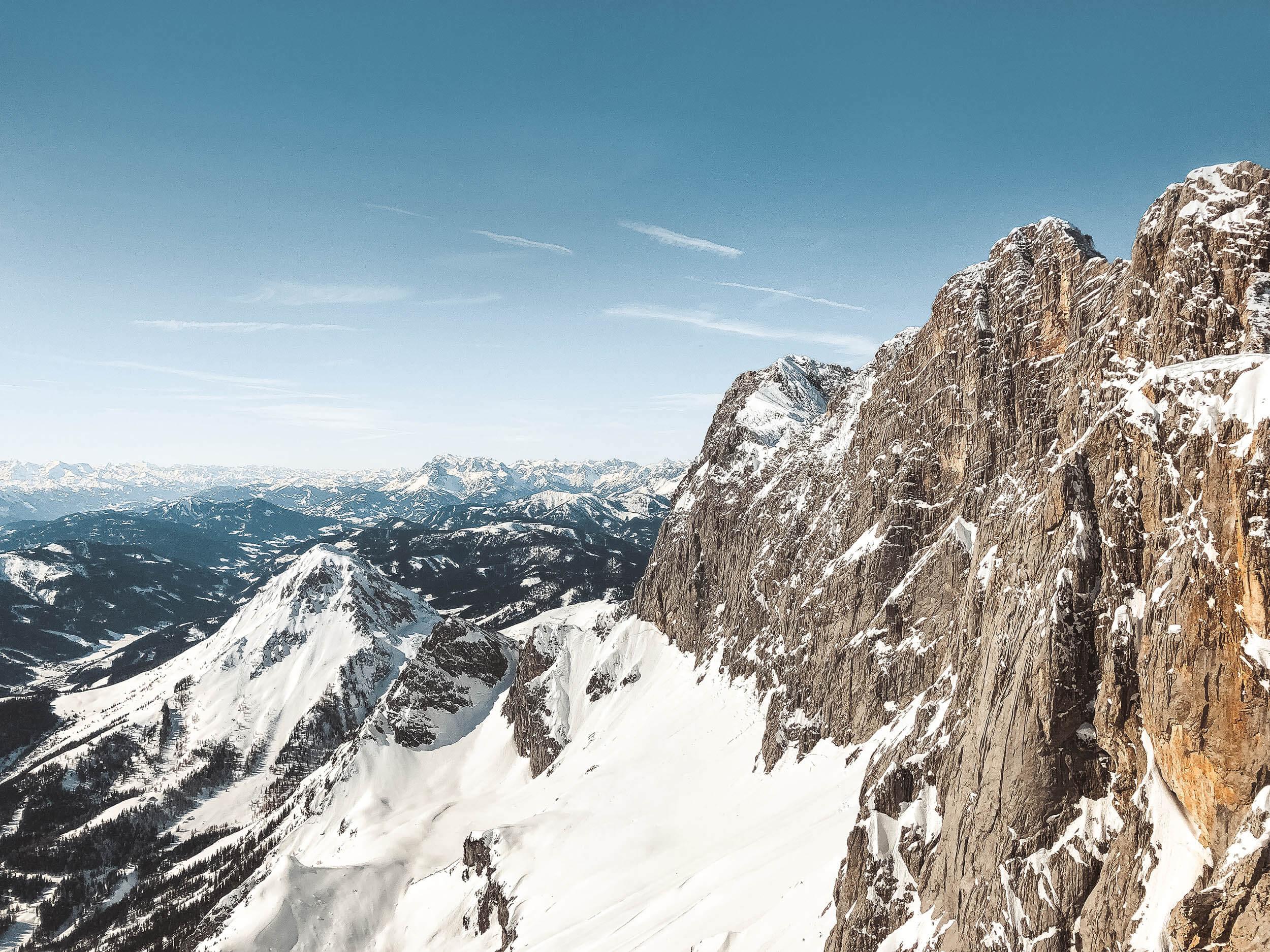 Panorama z lodowca Dachstein