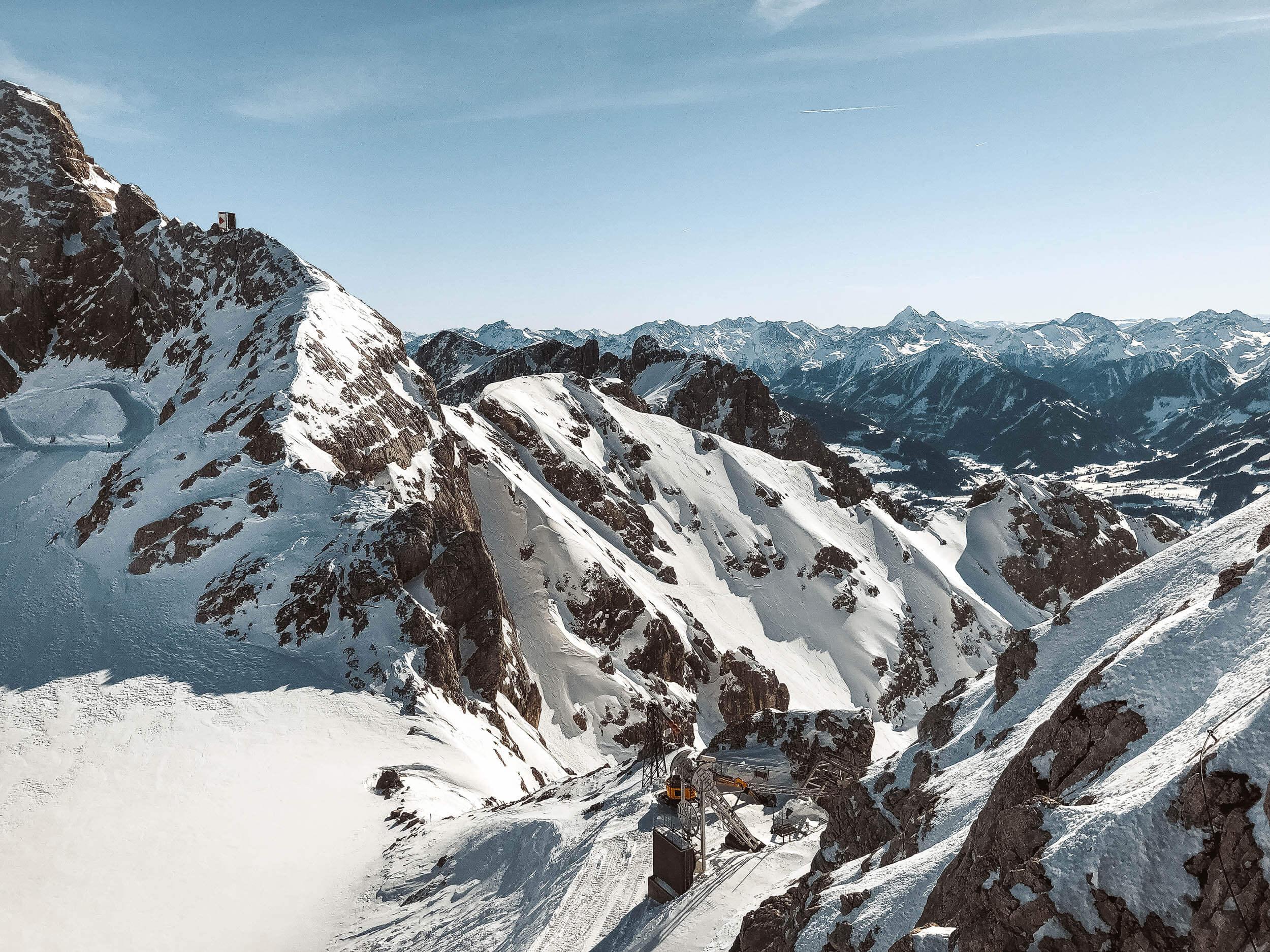 Widok z lodowca Dachstein