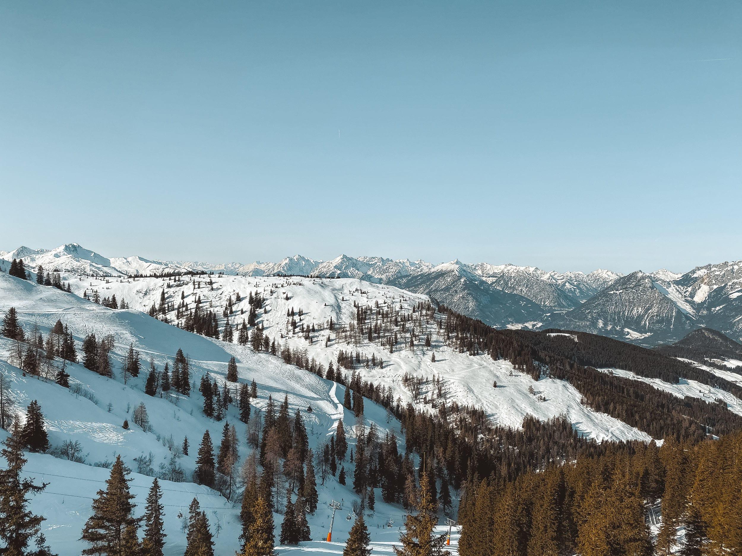 Widok z górnej stacji Ski Juwel