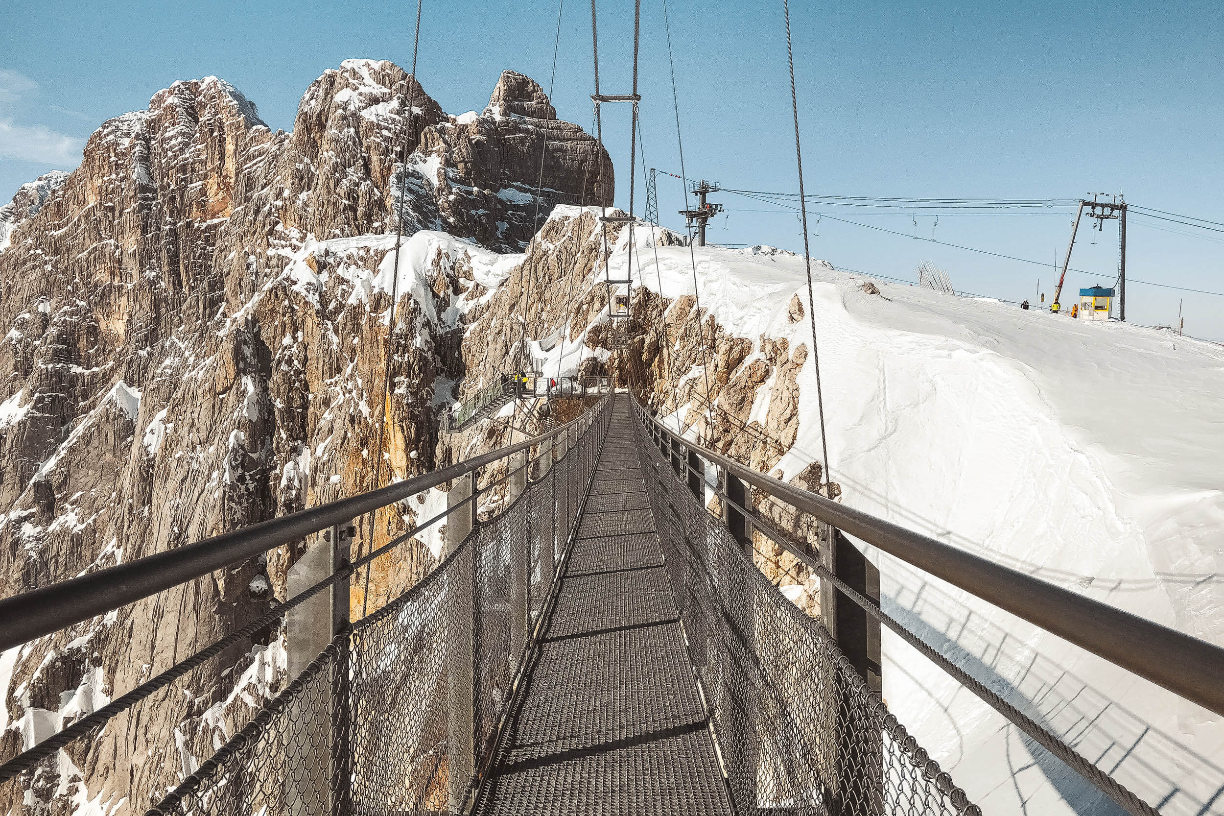 Most Wiszący, lodowiec Dachstein